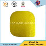coperchio quadrato dorato del di alluminio di 124mm per la vasca dei pp