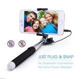 Mini Monopod extensível com fio de 3,5mm Conectando Selfie Stick