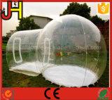 Tienda transparente inflable, tienda clara inflable para acampar