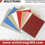 Signe de couleur blanche de 3mm Matériau panneau composite aluminium pliable léger
