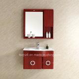Vanità d'acciaio della stanza da bagno di Staineless del Governo dello specchio con indicatore luminoso (098)