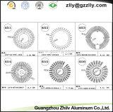 Dissipatori di calore di alluminio del girasole del materiale da costruzione di U-Figure