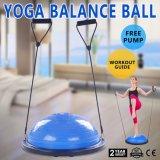 De bille de forme physique de bille d'équilibre de gymnastique demi d'entraîneur de Bosu de yoga à la maison de bille