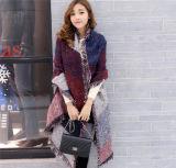 2016 Moda estilo étnico cachemira caliente con flecos del mantón de la tela escocesa (50186)