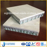 Panneau en pierre de marbre artificiel de nid d'abeilles en aluminium pour le revêtement de mur