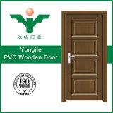 Конструкция двери PVC деревянная в фабрике Yongkang