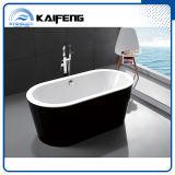 Cupc negro acrílico bañera moderna independiente (KF-715K)
