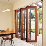 Portes Bifold en verre intérieures de pliage de modèle en aluminium de porte