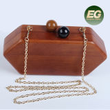 Vintage Style Femmes Hard Case Purse Wooden Hand Bags Box Clutch Evening Bag pour filles Eb865