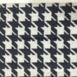 Двойная ткань Black&White шерстей Houndstooth стороны