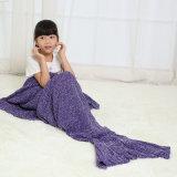 Étoffes de bonneterie robe de mariée de queue de sirène Couverture pour les enfants Mesdames les filles