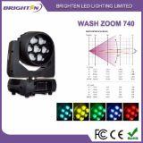 Wäsche-beweglicher Kopf des LED-Stadiums-Licht-7*40W RGBW mit lautem Summen
