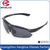Projeto de vinda do suor dos óculos de sol cheios da equitação da bicicleta do frame do vermelho Tr90 anti