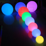Plastic Round Christmas Bauble Ornaments X'mas LED Ball Deco avec télécommande