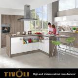 建築者および家の開発者(AP121)のための明白な白L形の食器棚の家具