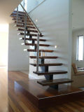 나무로 되는 똑바른 계단 또는 실내 계단 또는 실내 층계