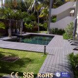 Decking compuesto plástico de madera al aire libre resistente ULTRAVIOLETA para la piscina