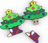 1GB、2GB、4GBの16GB PVCクリスマスツリーの形USBのフラッシュ駆動機構(ET002)