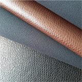 Couro do plutônio da mobília da alta qualidade para Sectionals de reclinação Hw-7701