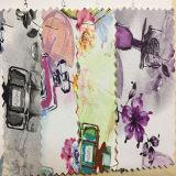 Design colorido padrão de impressão de pele artificial artificial para sapatos, bolsas, Garment, decoração (SH-Y23)
