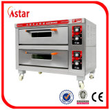 Classical Electric Oven Two Deck Two Tray for Bakery Store and High Quality Commercial Stainless Steel Deck Oven Baking Equipment Factory in China
