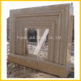 Tipo moderno di marmo beige camino decorativo della casa della pietra