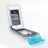 Sac mobile imperméable à l'eau professionnel sous-marin de cas de téléphone cellulaire de plongée profonde de 40m pour l'iPhone 5/6/6plus