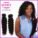 Волосы волны оптовой машины волос волны высокого качества 100% глубоко людской бразильской Weft глубокие (DW-067b)