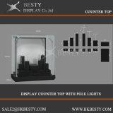 Kundenspezifischer Bildschirmanzeige-Gegenoberseite-Schaukasten mit LED-Licht