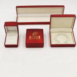 ビロードが付いているプラスチック印刷される宝石箱およびロゴ(J55-E)