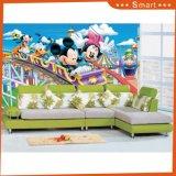 Pintura linda del estilo de la sola de la historieta de la pared de la decoración pintura al óleo de la lona para la sala de estar