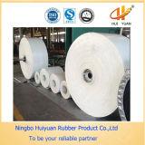 De witte Rubber Multi-Ply Riem van de Transportband van het Voedsel van het Canvas