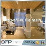 Mattonelle di pavimentazione bianche come la neve di marmo con le vene uniche in materiale da costruzione di superficie