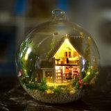 El más caliente con el Dollhouse de la bola de cristal de la luz y de los muebles DIY de la simulación