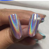 Glänzender Laser-Nagel-ganz eigenhändig geschriebe Puder-Regenbogen-Nagel-Funkeln-Staub-Chrom-Pigment-Maniküre-Pigmente