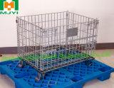 Gaiola resistente Foldable & Stackable do engranzamento de fio para o armazenamento do armazém