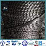 Составленная 6*19 веревочка стального провода Ungalvanized для подниматься