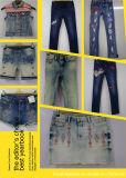 女の子(L44254-315)のための伸張のデニムのスカート