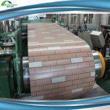 木および煉瓦パターン亜鉛はPrepainted GIによって電流を通された鋼鉄コイルに塗った