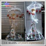 CE/RoHSの金属の白い角度の装飾の通りのクリスマスの装飾ライト
