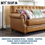 Amerikanisches Art-echtes Leder-Sofa