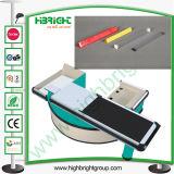 Separador de carril de plástico de efectivo de escritorio