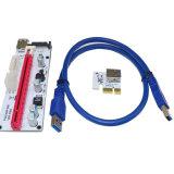 cabo do USB 3.0 do cartão 60cm do montante de 008s Pcie X1 X16 para a mineração de Eth