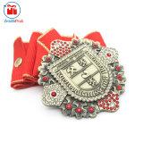 Medaglia religiosa di lusso del metallo del fornitore con il Rhinestone