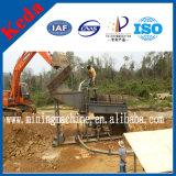 Planta de lavagem do ouro móvel aluvial em África (3-500t/h)