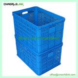 De HDPE virgem de negócios de plástico empilháveis Engradado de frutos de malha de reciclagem