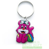 Weicher Verkauf der Dame-Metal/PVC/Feather Dog Enamel Keychain durch Factory No MOQ