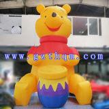 De opblaasbare Teddybeer in Reclame Inflatables/Opblaasbare Reuze Reclame draagt