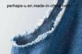 Camiseta del dril de algodón de las señoras simples y salvajes del verano