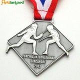 Alliage de zinc personnalisée médaille avec plaqué nickel